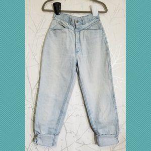 Pulse Vtg Light Wash High Rise Tapered Mom Jeans